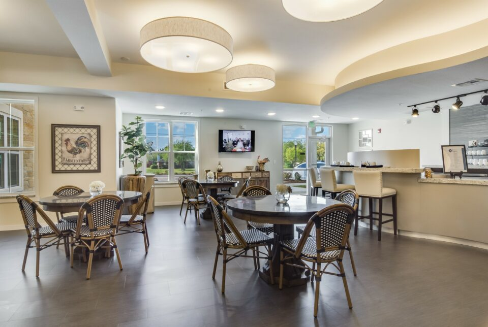 Park Creek Bistro tables and chairs and breakfast bar